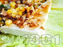 Медено козе сирене с орехи, акациев мед, коняк и царeвица - снимка на рецептата